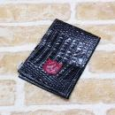 <iliac Golf> Score Card Holder (Black Croc)