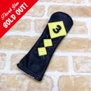 <iliac Golf> Argyle 3wood 3W用 (Black/Yellow)