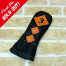 <iliac Golf> Argyle 3wood 3W用 (Black/Orange)
