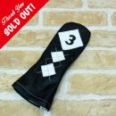 <iliac Golf> Argyle 3wood 3W用 (Black/White)