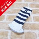 <iliac Golf> Polo Stripe 5wood 5W用 (White/Navy)